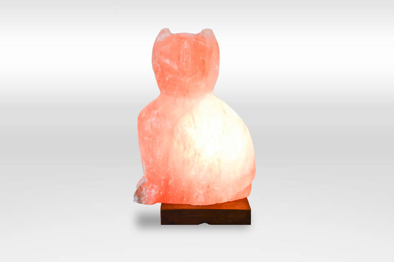Salt Lamps And Cats : Crafted Cat Himalayan Salt Lamp - Salt Room LV